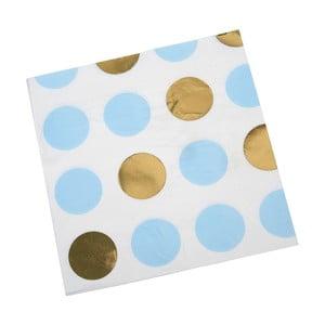 Zestaw 16 niebieskich serwetek Neviti Pattern Works