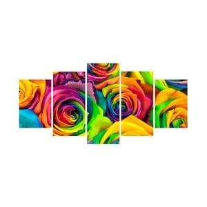 Obraz pięcioczęściowy Róże