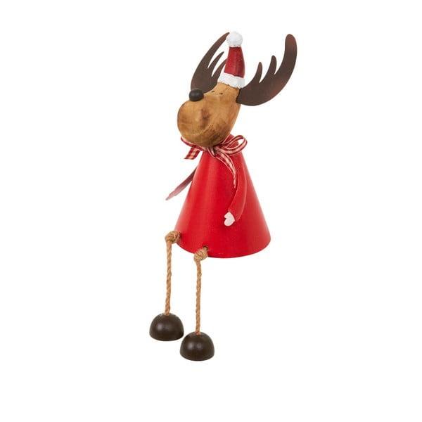 Dekoracja Archipelago Red Sitting Reindeer, 15 cm