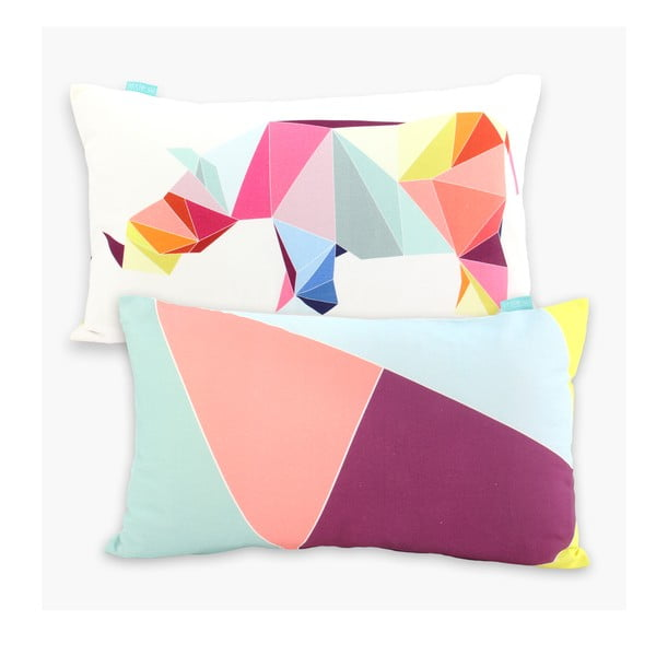 Poszewka na poduszkę Origami, 50x30 cm
