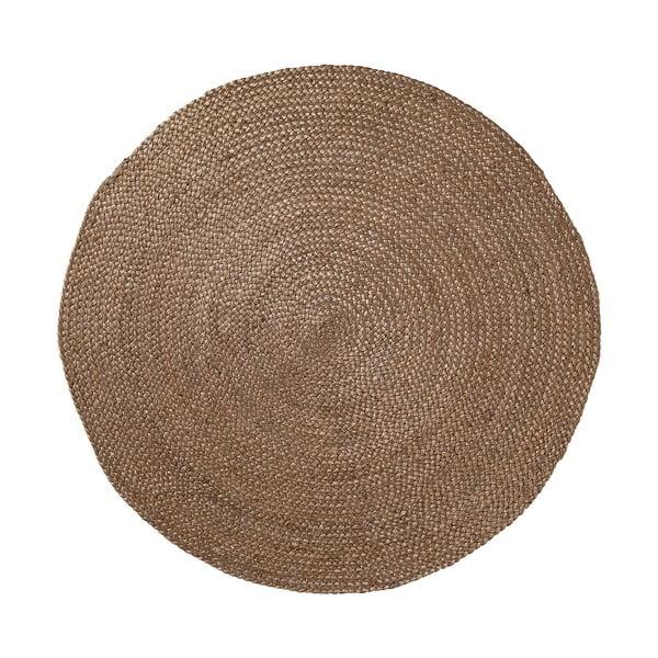 Jutowy dywan Dip Ø 100 cm, brązowy
