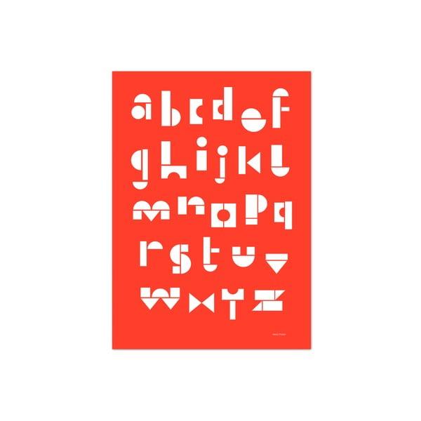 Plakat SNUG.ABC, 50x70 cm, czerwony
