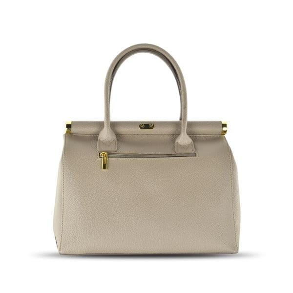 Skórzana torebka Carla, beżowa