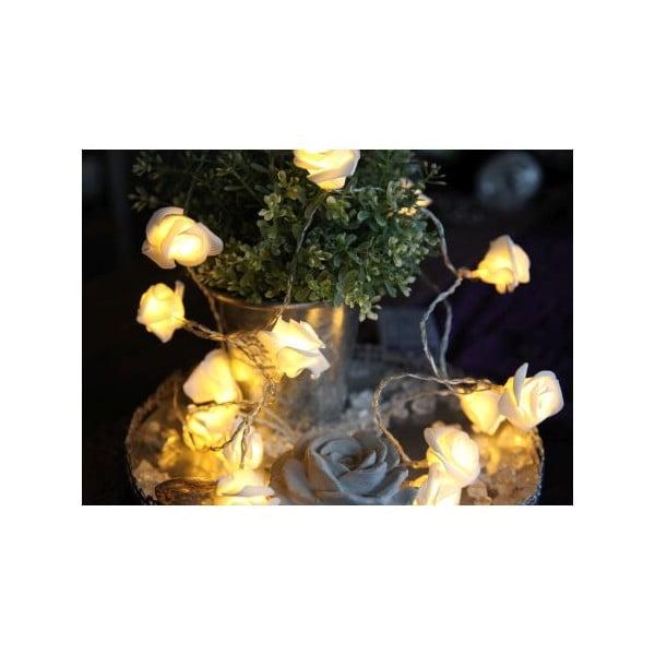 Świecący łańcuch LED Best Season White Roses