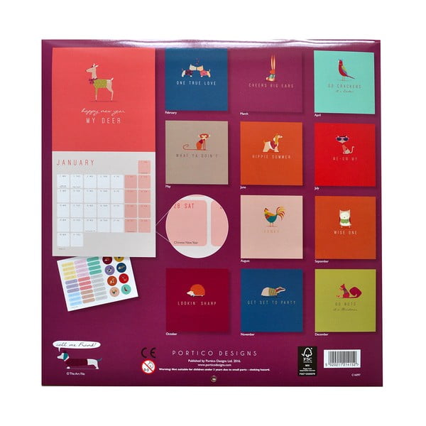 Kalendarz Portico Designs Call Me Frank SQ