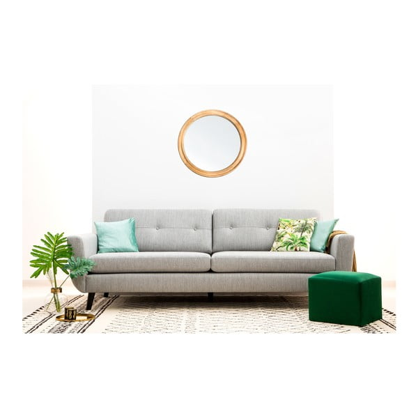 Szara sofa 3-osobowa Vivonita Harlem XL
