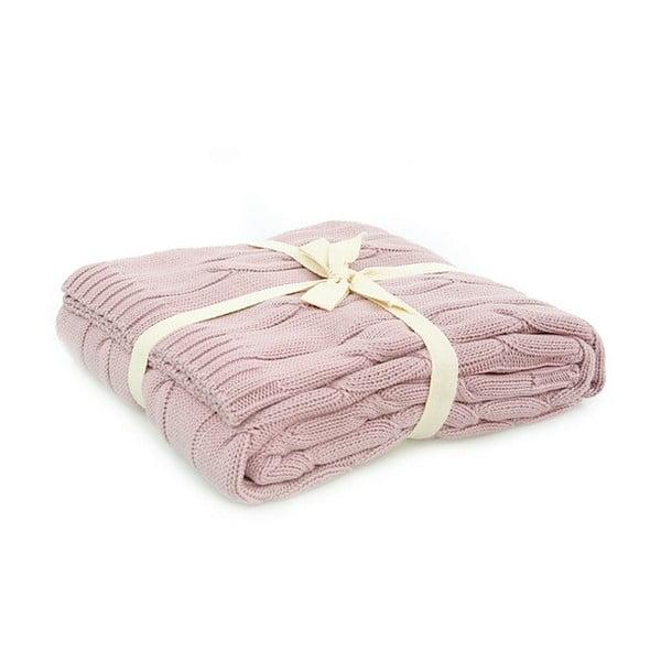Różowy koc bawełniany Homemania Couture