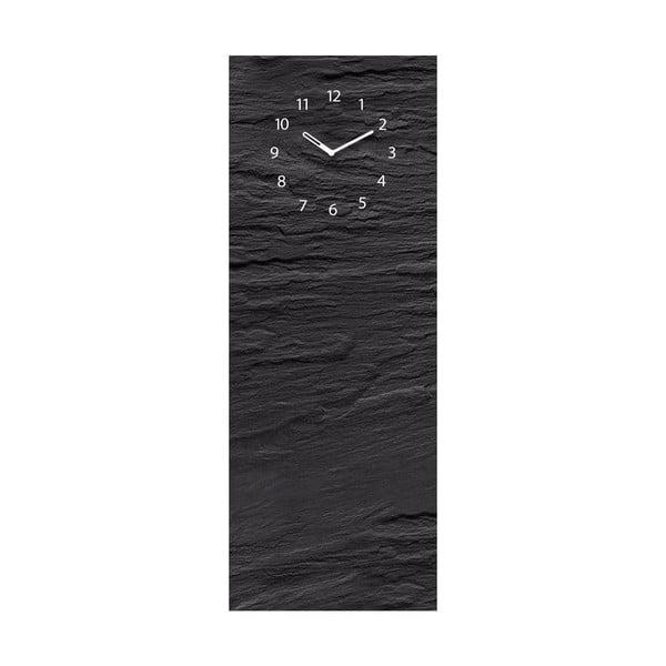 Tablica magnetyczna z zegarem Eurographic Black Slate, 30x80 cm