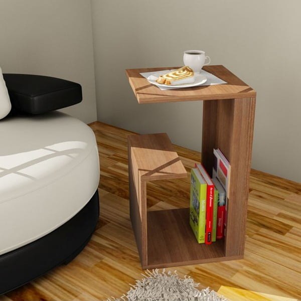 Wielofunkcyjny stolik kawowy Menekse Walnut
