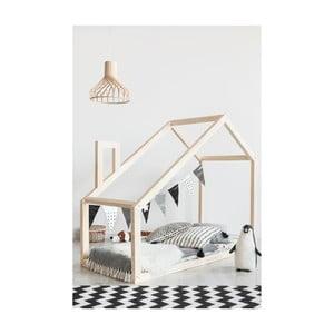 Łóżko w kształcie domku z drewna sosnowego Adeko Mila DM, 160x190 cm