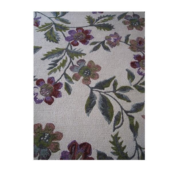 Wełniany dywan Florid Green, 140x200 cm