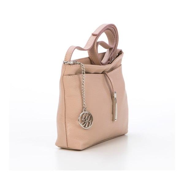 Skórzana torebka Francesco, pudrowa