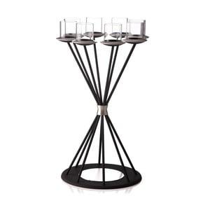 Świecznik Majestic Glimmer Black na 8 świeczek