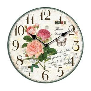 Zegar Roses, 34 cm