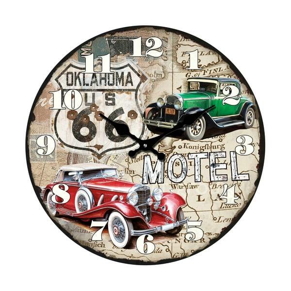 Szklany zegar Italia, 34 cm