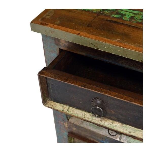 Szfka drewniana z 3 szufladami Goa