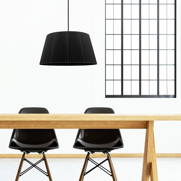 Czarna lampa wisząca Sotto Luce KAMI,Ø45cm