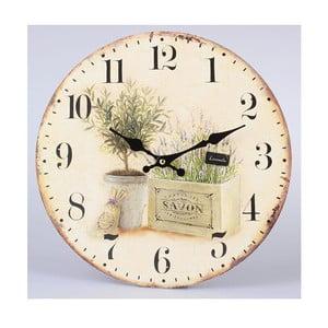 Zegar drewniany Savon Lavender, 34 cm
