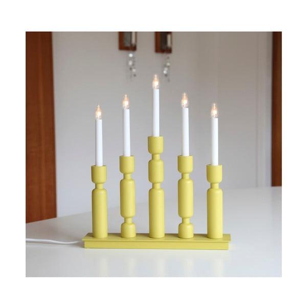 Żółty świecznik LED Best Season Uddebo