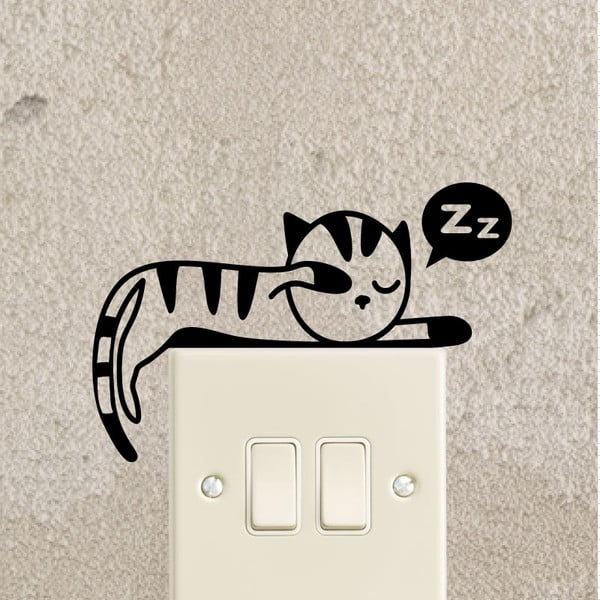 Naklejka Ambiance Sleeping Kitten