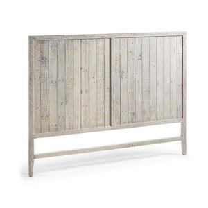 Drewniany zagłówek łóżka z białą patyną La Forma Woody, dł.174cm