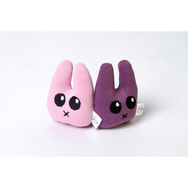 Mini Pluszak Zając w pudełku, fioletowy