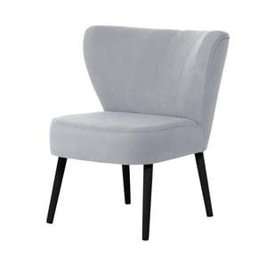 Jasnoniebieski fotel z czarnymi nogami My Pop Design Hamilton