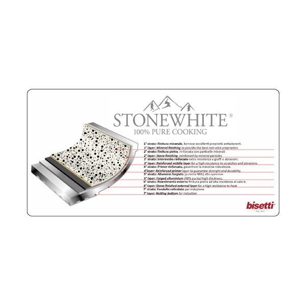 Garnek z pokrywką i uchwytami w srebrnym kolorze Bisetti Stonewhite Mirko, ø 24 cm