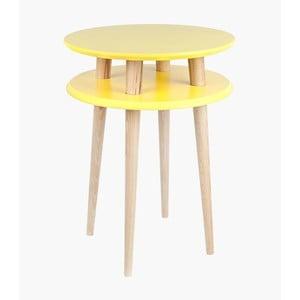 Stolik kawowy UFO 61x45 cm, żółty