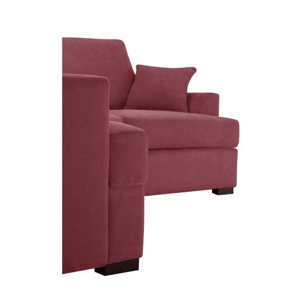 Sofa narożna Jalouse Maison Irina, lewy róg, różowa