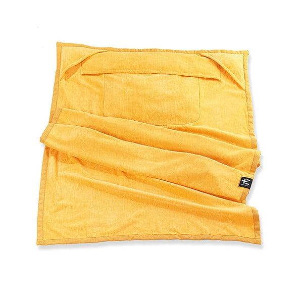 Ręcznik plażowy Kami Moe 90x180 cm, żółty