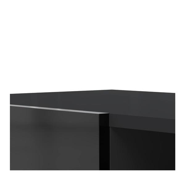 Czarna szafka pod TV TemaHome Podium, szer.185cm
