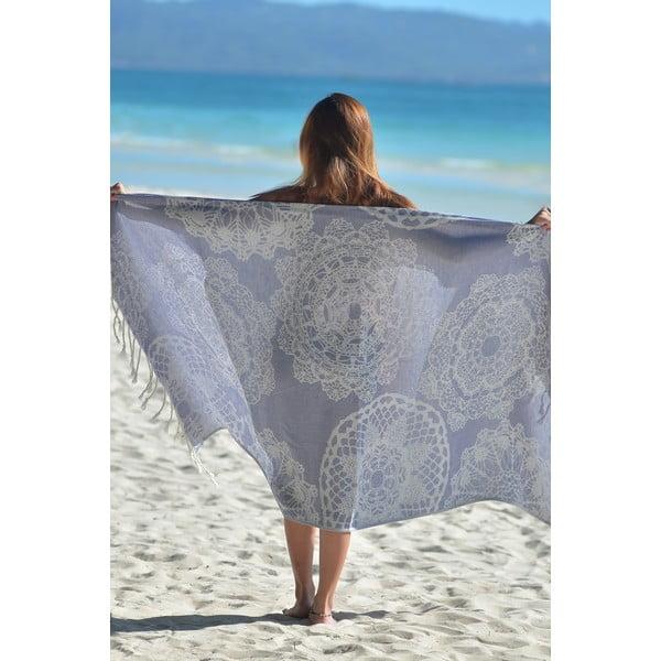 Fioletowy ręcznik hammam Lace