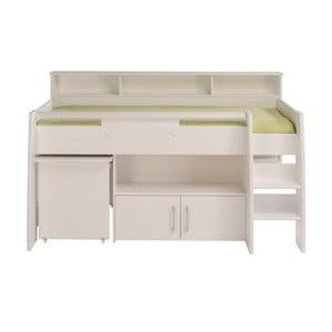 Białe wielofunkcyjne łóżko 1-osobowe Parisot Adelise, 90x200cm
