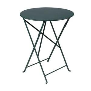 Ciemnozielony składany stół metalowy Fermob Bistro