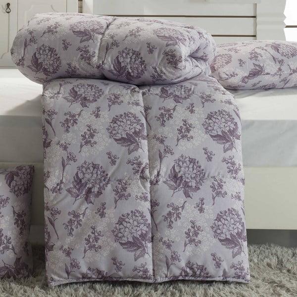 Narzuta pikowana na łóżko dwuosobowe Ames Maroon, 195x215 cm