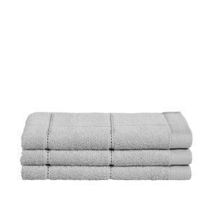 Zestaw 3 szarych ręczników z organicznej bawełny Seahorse,30x50cm