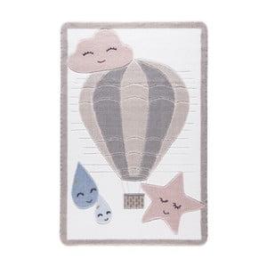 Jasnoróżowy dywan dziecięcy Confetti Cloudy, 133x190 cm