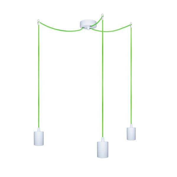 Trzy wiszące kable Zero, zielony/biały