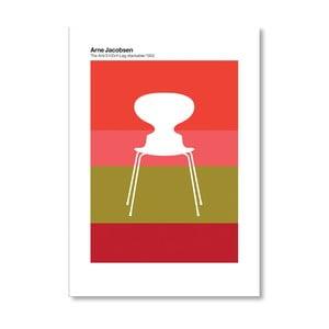 "Plakat autorski ""Jacobsen Ant Red"""