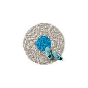 Wełniany dywan Wool Mat Round Turquoise, 90x90 cm