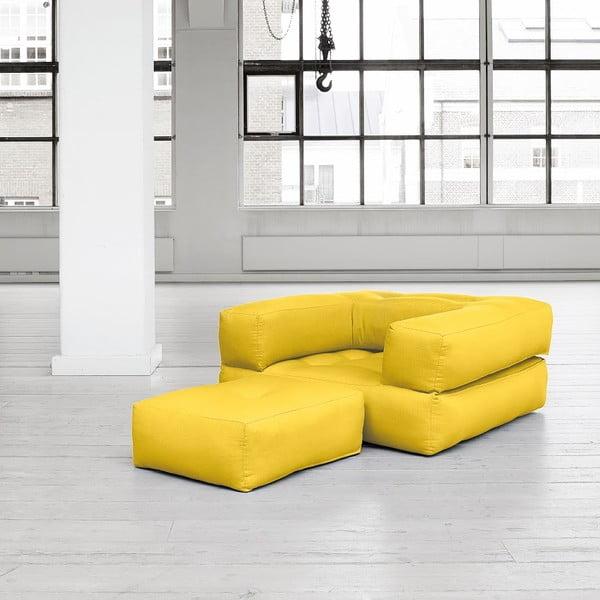 Fotel rozkładany Karup Cube Amarillo