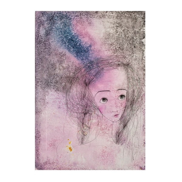 Plakat autorski: Léna Brauner Ucałowana, 43x60 cm