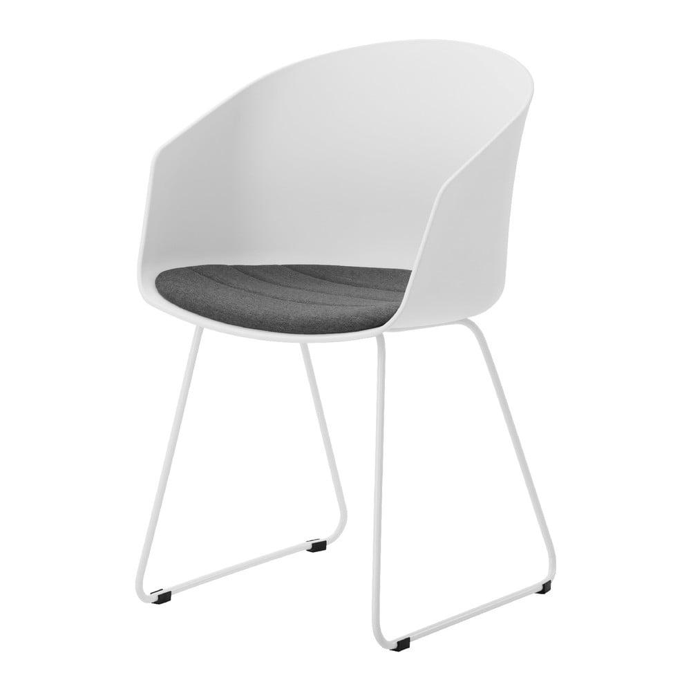Białe krzesło z białymi nogami Interstil Moon 40