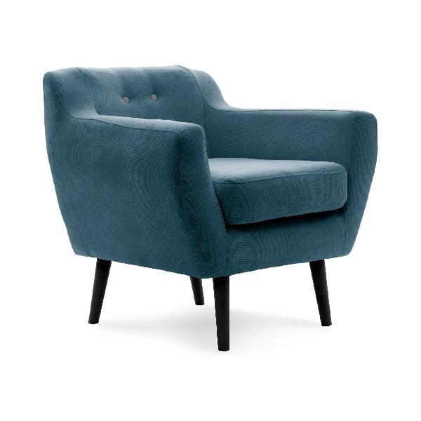 Fotel VIVONITA Kelly Marine Blue, czarne nogi