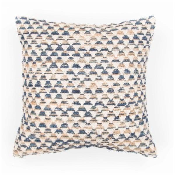 Niebieska poduszka dekoracyjna ZicZac Pyramide, 45x45 cm