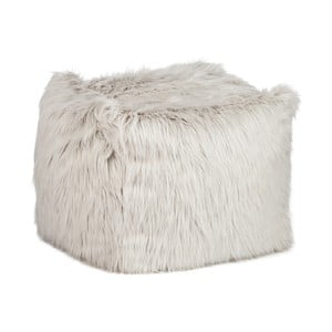 Puf   Bean Bag Fur Light Grey