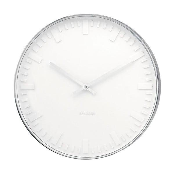 Zegar Present Time Mr. White Steel
