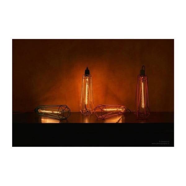 Niebieska lampa wisząca z pomarańczowym kablem Filament Style Diamond #2