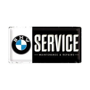 Blaszana tabliczka BMW Service, 25x50 cm